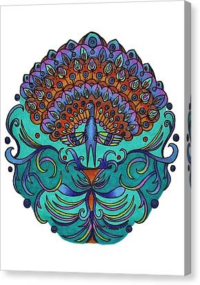Peacock Canvas Print by Sharon Andrews
