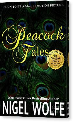 Peacock Tales Book Cover Canvas Print