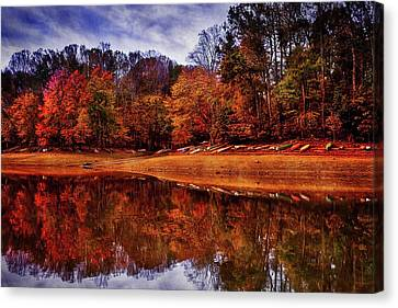 Canvas Print featuring the photograph Peak? Nope, Not Yet by Edward Kreis