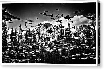 Peaks And Pads Canvas Print by Kevin Munro