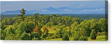 Peaks Of Otter After The Rain Canvas Print by The American Shutterbug Society