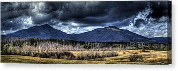 Peaks Of Otter Storm Clouds Canvas Print by Steve Hurt