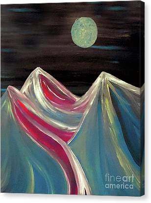 Peaks Of Solitude Canvas Print by Jilian Cramb - AMothersFineArt