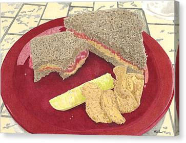 Polyester-film Canvas Print - Peanut Butter And Jelly by Will Kirkland