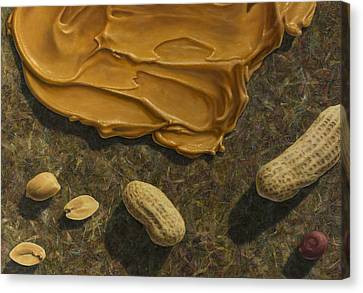 Peanut Canvas Print - Peanut Butter And Peanuts by James W Johnson