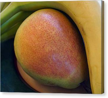 Canvas Print featuring the digital art Pear And Banana by Jana Russon