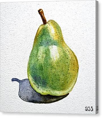 Pear Canvas Print by Irina Sztukowski