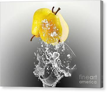 Pear Canvas Print - Pear Splash Collection by Marvin Blaine