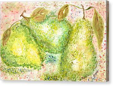 Pear Trio Canvas Print