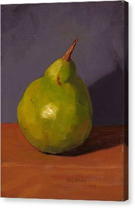 Pear With Gray Canvas Print