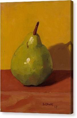 Pear With Yellow Canvas Print