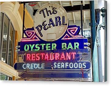Pearl Oyster Bar Canvas Print