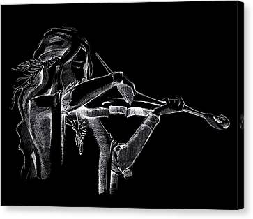 Pearl Violinist  Canvas Print