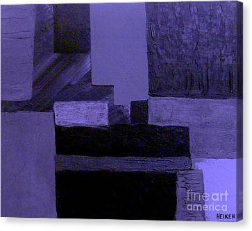 Pearlescent Purple Abstract Canvas Print by Marsha Heiken