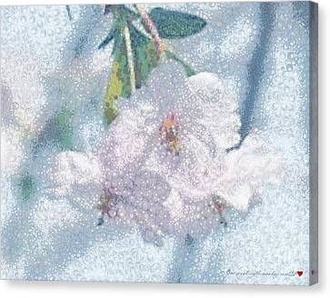 Pearlesque Floral Canvas Print by Catherine Lott