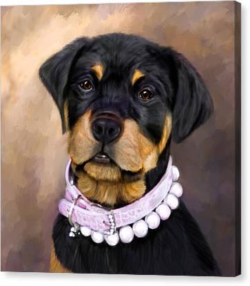 Pearlie Girlie Canvas Print by Elizabeth Murphy