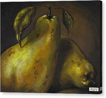 Pears Canvas Print by Adam Zebediah Joseph