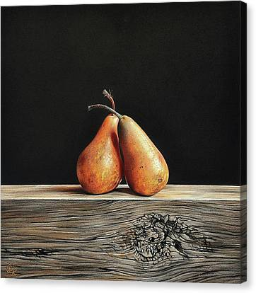Pears Canvas Print by Elena Kolotusha