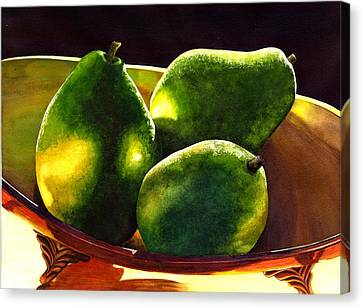 Pears No 2 Canvas Print by Catherine G McElroy