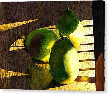 Pears No 3 Canvas Print by Catherine G McElroy