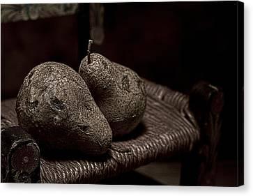 Pears On A Chair I Canvas Print by Tom Mc Nemar