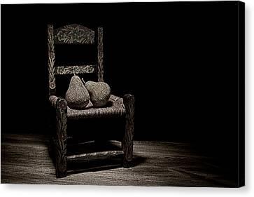Pears On A Chair II Canvas Print by Tom Mc Nemar