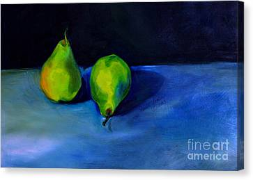 Pears Space Between Canvas Print by Daun Soden-Greene