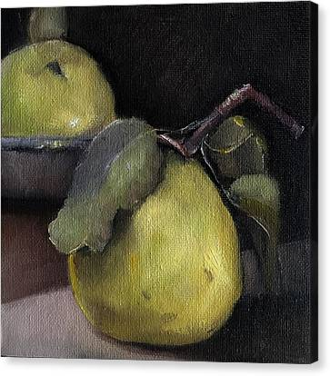 Pears Stilllife Painting Canvas Print by Michele Carter
