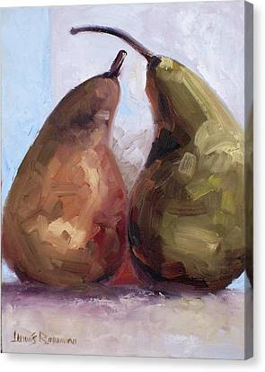Pears Two Canvas Print