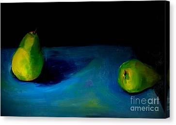 Pears Unpaired Canvas Print by Daun Soden-Greene