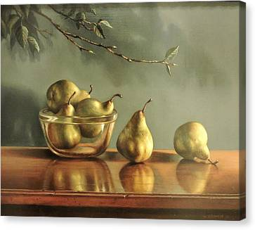 Pears Canvas Print by William Albanese Sr