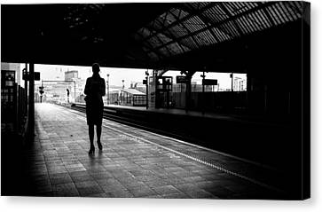 Pearse Station - Dublin, Ireland - Black And White Street Photography Canvas Print by Giuseppe Milo