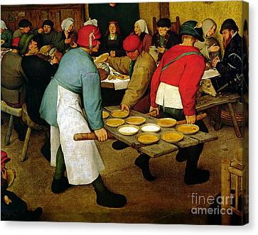 Peasant Wedding Canvas Print by Pieter the Elder Bruegel