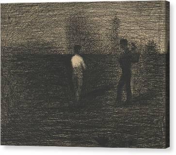 Seurat Canvas Print - Peasants by Georges-Pierre Seurat