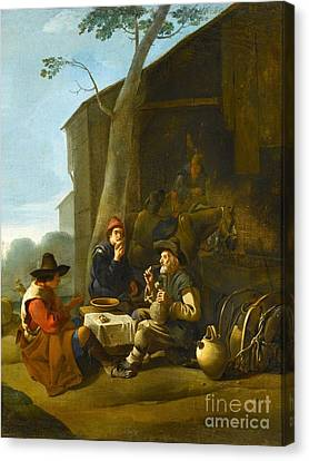1622 Canvas Print - Peasants Resting Before An Inn by MotionAge Designs