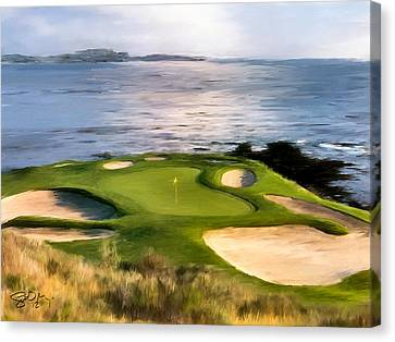 Digital Canvas Print - Pebble Beach No.7 by Scott Melby