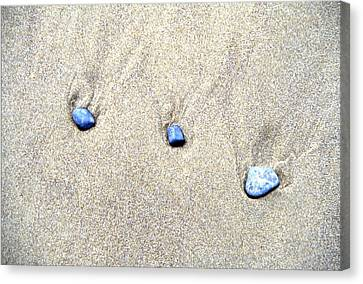 Pebbles In The Sand Canvas Print