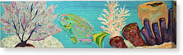 Pebeo Parrotfish Canvas Print by Patricia Beebe
