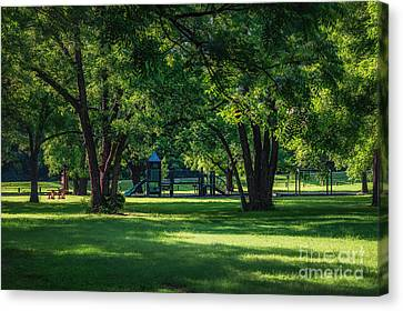 Pecan Grove In Summer Canvas Print by Tamyra Ayles