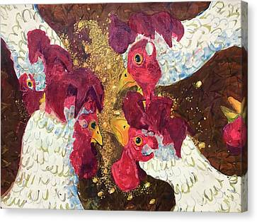 Pecking Order Canvas Print by Jame Hayes