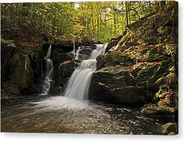 Canvas Print featuring the photograph Pecks Falls by Mike Martin