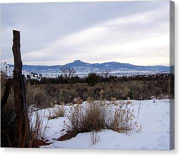 Pedernal Mountain Canvas Print
