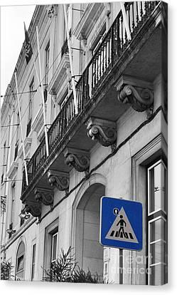 Pedestrian Crossing Canvas Print by Floyd Menezes