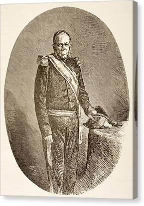 Pedro Santana Y Familias,1st Marquis Of Canvas Print