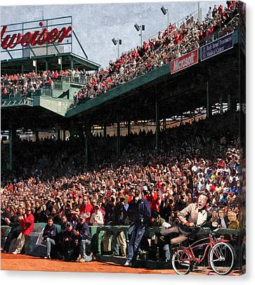 Pee Wee Does The Fenway Canvas Print by George Curcio