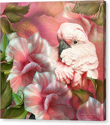 Peek A Boo Cockatoo Canvas Print by Carol Cavalaris
