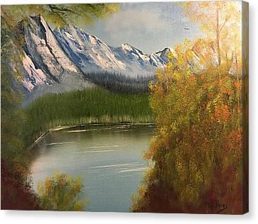 Peek-a-boo Mountain Canvas Print by Thomas Janos