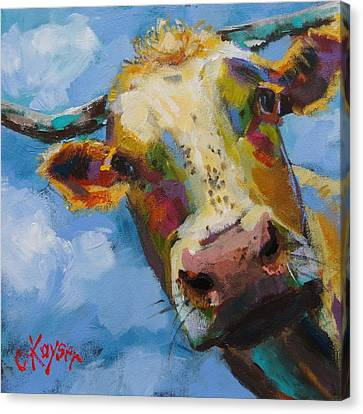 Peek A Moo Canvas Print by Claire Kayser