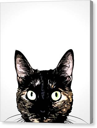 Peeking Cat Canvas Print