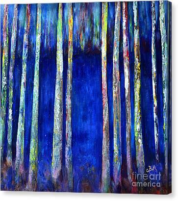 Peeking Through The Trees Canvas Print